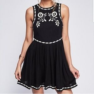 Free People black birds of a feather dress